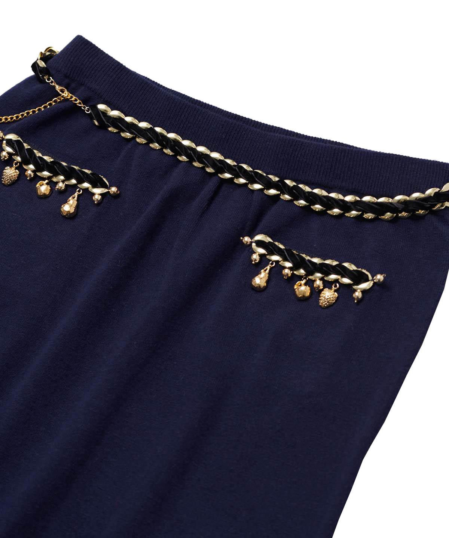 フルーツチャームニットスカート