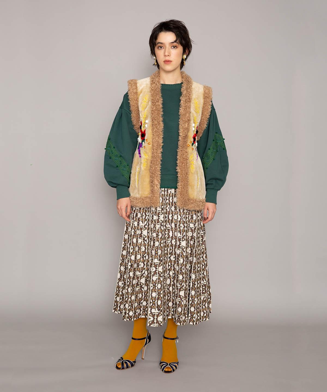 クロスピンニットスカート