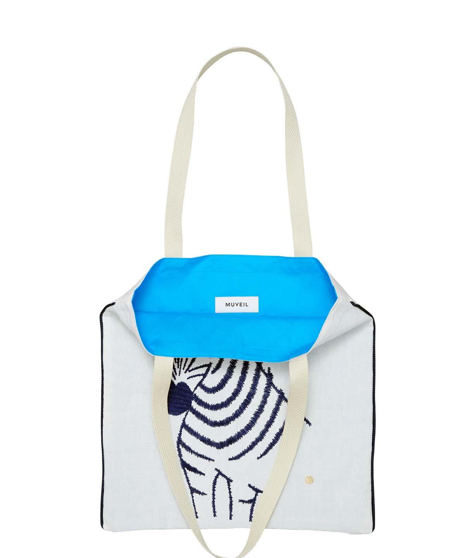 シマウマ刺繍バッグ