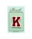 サガラ刺繍アルファベットワッペン K