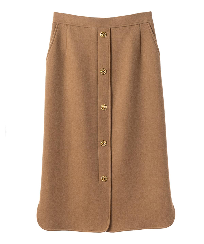 メタルボタンスカート