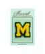 サガラ刺繍アルファベットワッペン M
