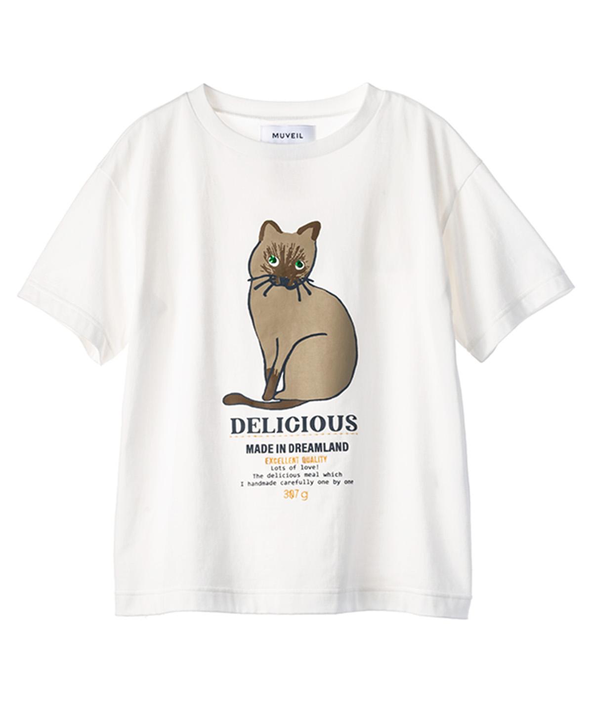 シャムネコプリントTシャツ