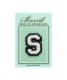 サガラ刺繍アルファベットワッペン S