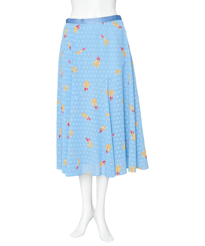 リッププリントスカート