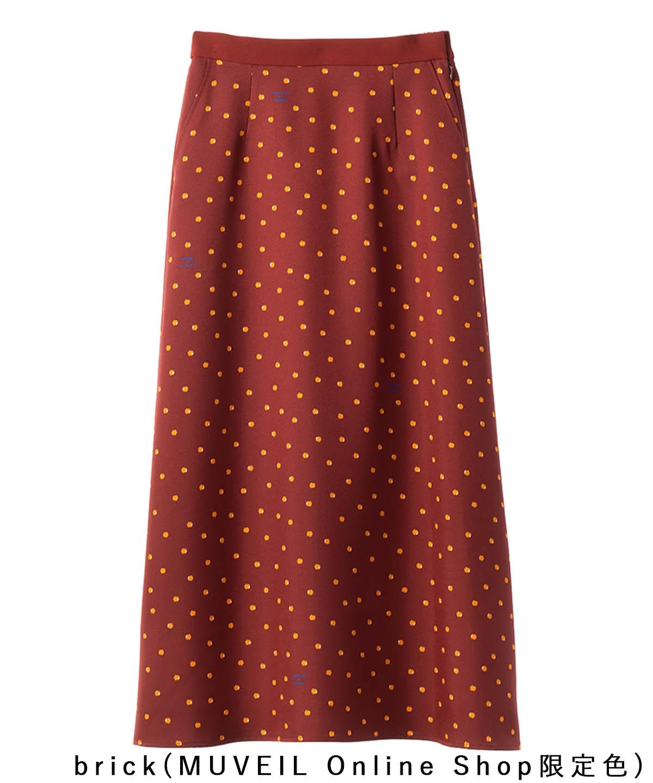 リンゴプリントスカート