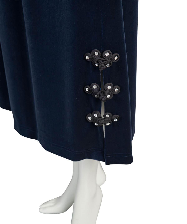 チャイナボタンベロアスカート