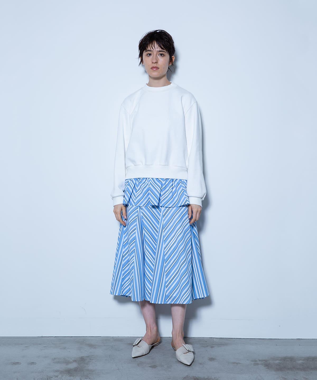 ストライププリントスカート