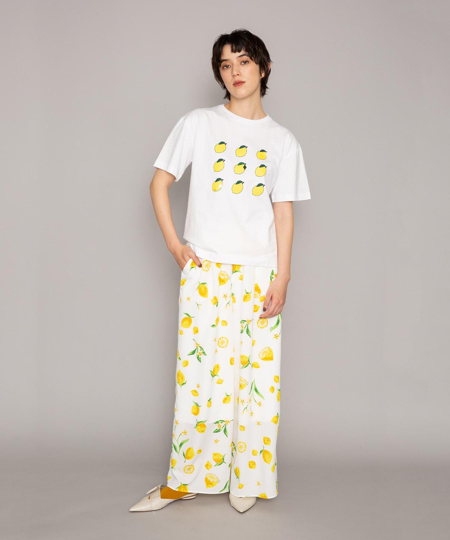 レモンプリントTシャツ