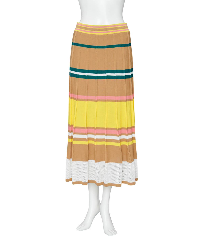 マルチボーダーニットスカート