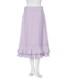 リップ刺繍スカート