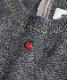 リンゴ刺繍ニット
