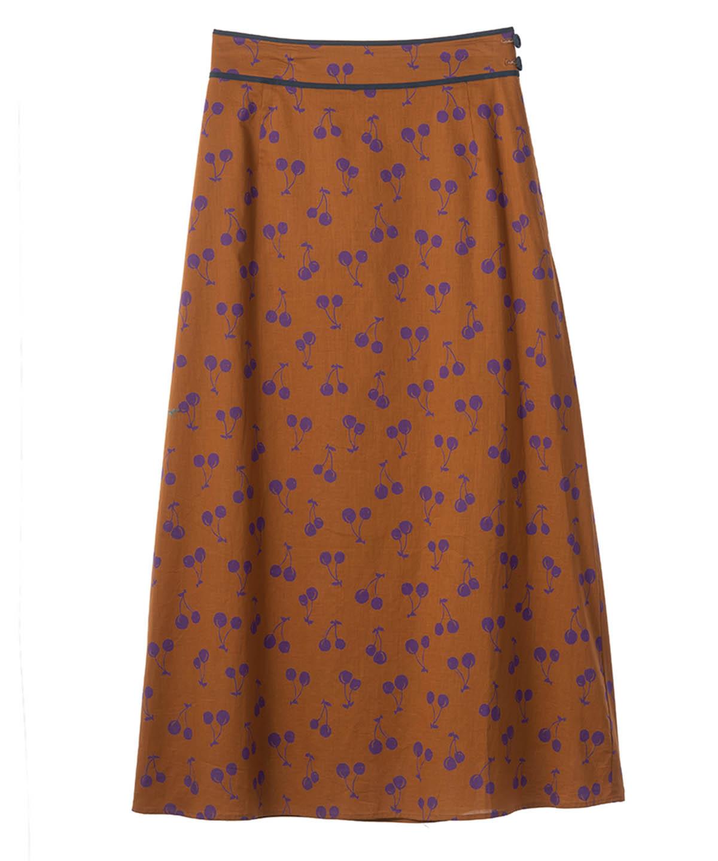チェリープリントスカート