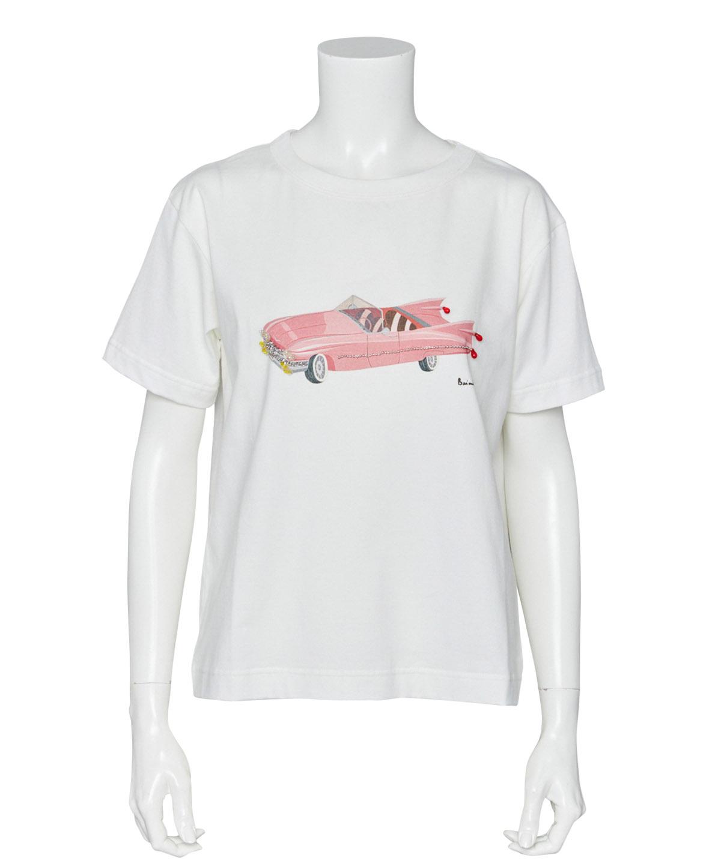 クラシックカーアートプリントTシャツ