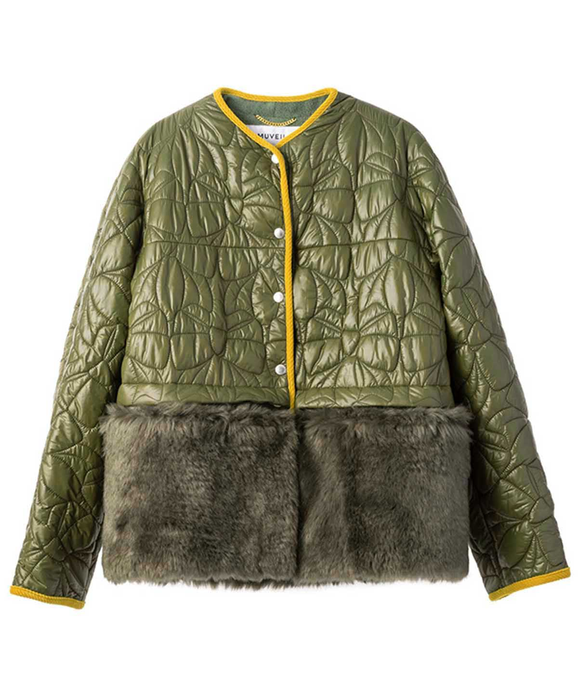 リボンキルティングジャケット