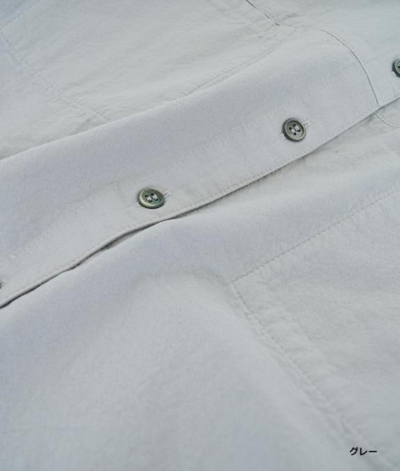 二重織製品染めブラウス