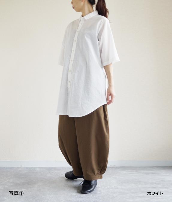 【SALE60%OFF】綿麻ボイルワッシャーブラウス