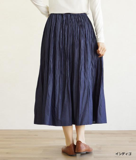 クラッシュプリーツスカート