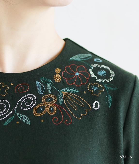 花刺繍チュニック