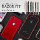 iPhone SE 第2世代 se2 ケース iPhone 8 / 7アルミニウムバンパー GAZE Razor Fit(ゲイズ レイザーフィット)アイフォン ケース カバー アルミ製 メタルフレーム バックプレート付き
