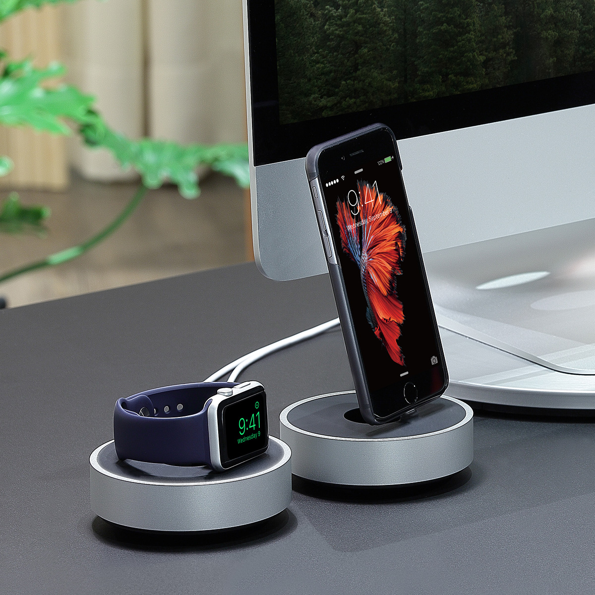 Apple Watch 充電スタンド Just Mobile HoverDock Apple Watch charging dock(ジャストモバイル ホバードック アップルウォッチ チャージングドック)ケーブル巻取り機能