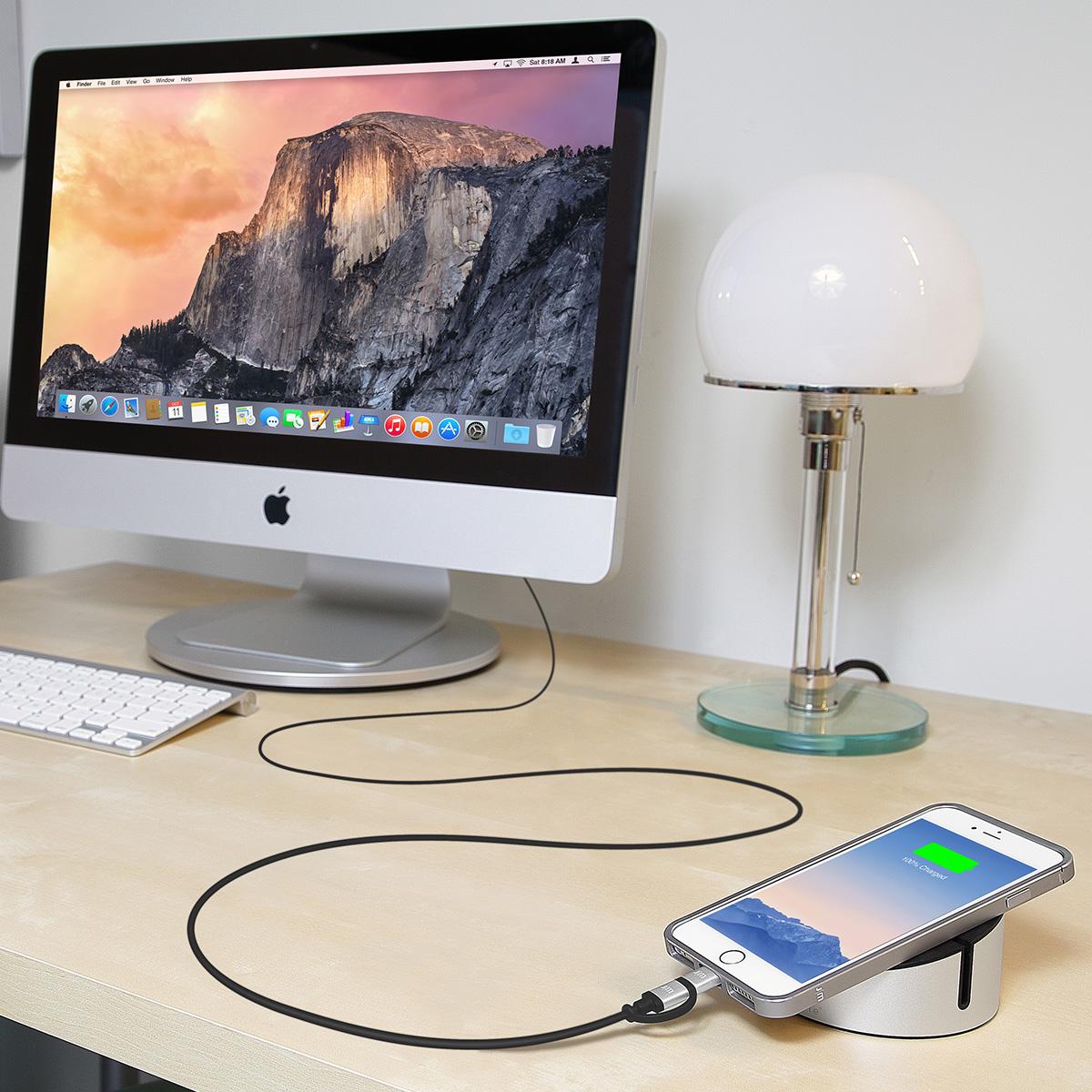 MFi認証 ライトニング&micro-USB 変換ケーブル Just Mobile AluCable Duo(ジャストモバイル アルケーブルデュオ)1.5M 2in1タイプ アルミ製 充電 データ転送対応