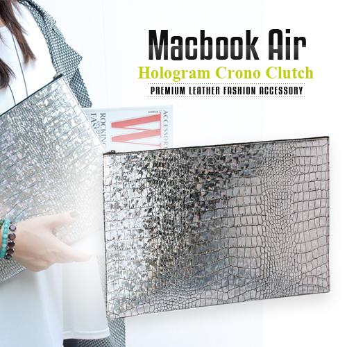 送料無料【MacBook Air対応】本革インナーケース GAZE Hologram Croco(ゲイズ ホログラムクロコ)天然牛革,クロコ型押し,本革