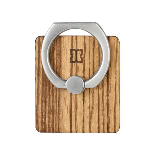 スマホリング Man&Wood 天然木 スマートリング(マンアンドウッド)落下防止 ホルダースタンド 指輪型 バンカーリング