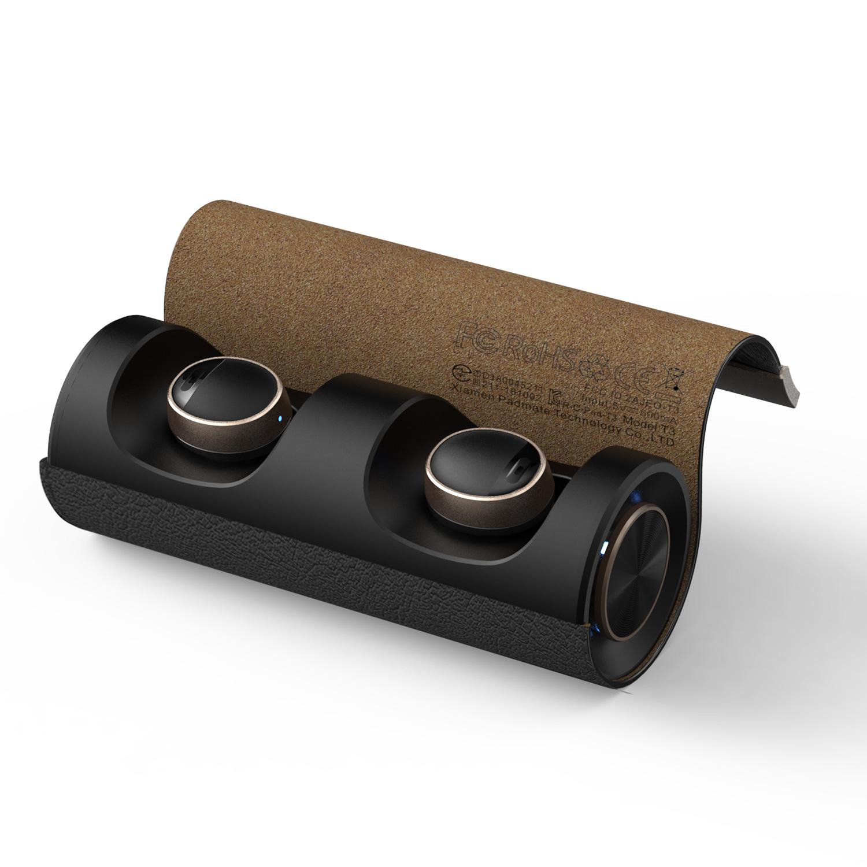 ブルートゥース イヤホン 完全ワイヤレスイヤホン PaMuScroll Plus +ワイヤレス充電レシーバー(パムスクロール)Padmat Bluetooth スポーツ コードレス イヤフォン ワイヤレスイヤホン カナル型 テレワーク 在宅勤務