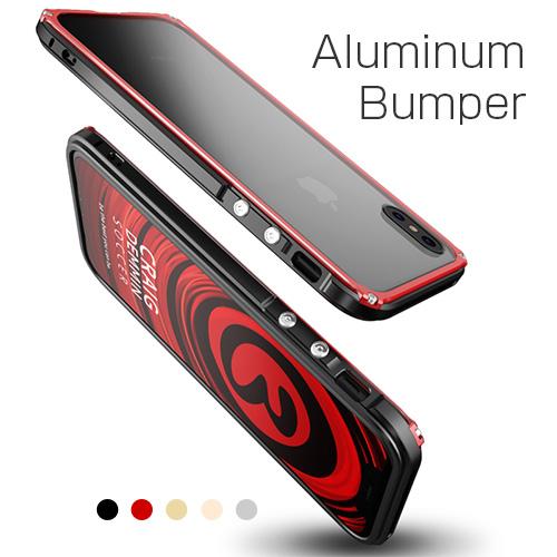 iPhone XS / X ケース iPhone XR ケース アルミニウムバンパー GAZE Razor Fit(ゲイズ レイザーフィット)アイフォン ケース カバー アルミ製 メタルフレーム バックプレート付き