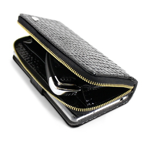 Xperia Z2 dreamplus Zipper お財布付きダイアリーケース ポーチ一体型 Xperia Z2財布ケース カバー ジッパー