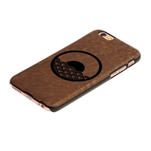 iPhone6s/6 天然木 香るケース「日の出」カバー Man&Wood BLACK LABEL(マンアンドウッド ブラックレーベル)日の出
