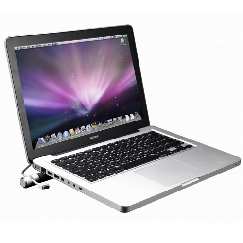 ノートパソコンスタンド Just Mobile Cooling Bar(ジャストモバイル クーリングバー)アルミニウム製 ノートPC タブレット MacBook iPad 台