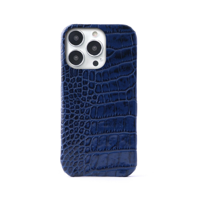 【iPhone 12 mini / 12 / 12 Pro ケース】ABBI SIGNATURE イタリアンレザー クロコバックカバーケース【本革】