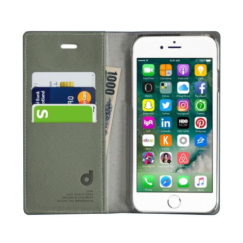 iPhone 8 Plus / 7 Plus ケース 手帳型 DreamPlus Wannabe Leathrer Diary (ドリームプラス ワナビーレザーダイアリー)アイフォン 本革 ラインストーン カバー