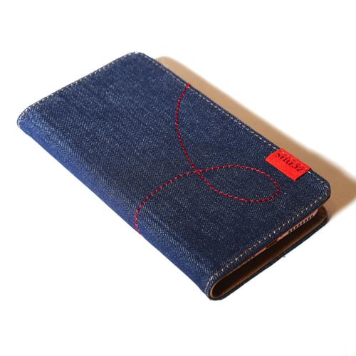 スマホケース 手帳型 スライド式 多機種対応 マルチケース ZENUS Denim Stitch Diary(ゼヌス デニムステッチダイアリー)Mサイズ Lサイズ 5〜5.5インチまで 縦15cm×幅7.5cmまでのスマホ 縦16cm×幅8cmまでのスマホ