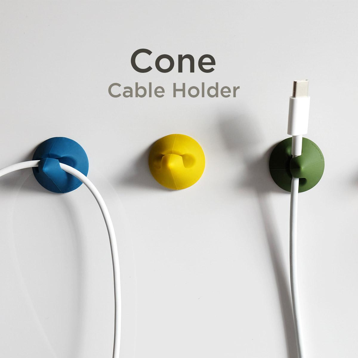 Lead Trend ケーブルホルダー CONE(5個入り)【 円錐形 コーン シリコン 】ケーブルを固定 パントンカラー クリップ