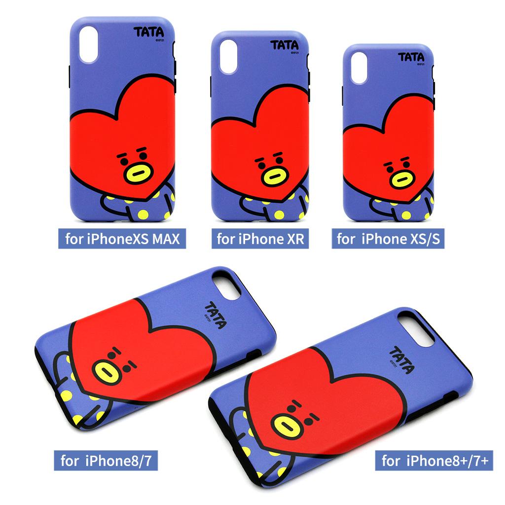 iPhone SE 第2世代 se2 ケース iPhone XS/X ケース iPhone 8/7ケース iPhone 8Plus/7Pluse ケース BT21 DUAL GUARD HI アイフォン カバー ユニバ—スター ラインフレンズ【公式ライセンス品】