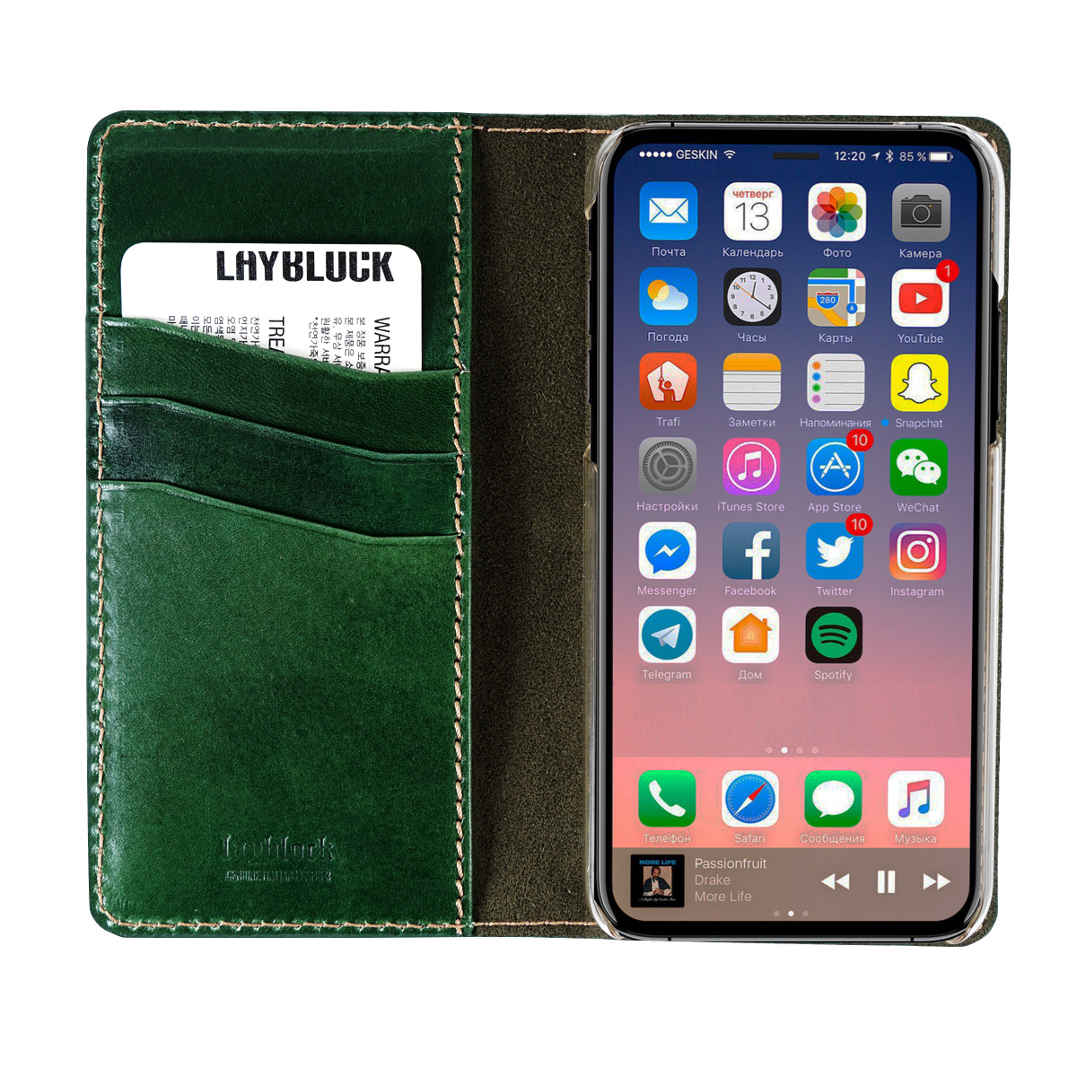 iPhone XS / X ケース iPhone XS Max ケース iPhone XR ケースLAYBLOCK Tuscany Belly 手帳型 本革 (レイブロック トスカニーベリー)アイフォン レザー カバー