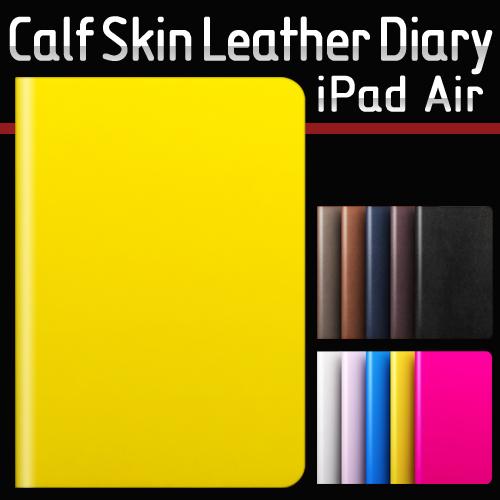 【iPad 9.7インチ 2018 / iPad 9.7インチ 2017 / iPad Air初代 兼用】対応 SLG Design D5 Calf Skin Leather Diary(カーフスキンレザーダイアリー)フィルム1枚入り スタンド機能付 自動オン/オフ機能付 カードポケット