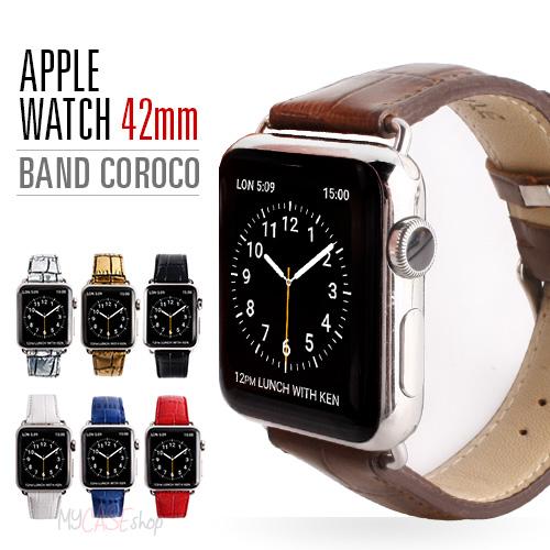 Apple Watch バンド アップルウォッチ Series 1/ 2/ 3 (42mm)、Series 4/ 5 (44mm)対応 Gaze クロコシリーズ アップルウォッチ レザー