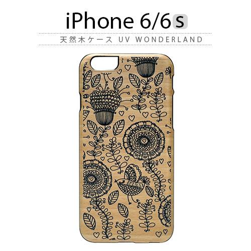 iPhone6s ケース 天然木 Man&Wood UV WonderLand(マンアンドウッド ワンダーランド)アイフォン iPhone6