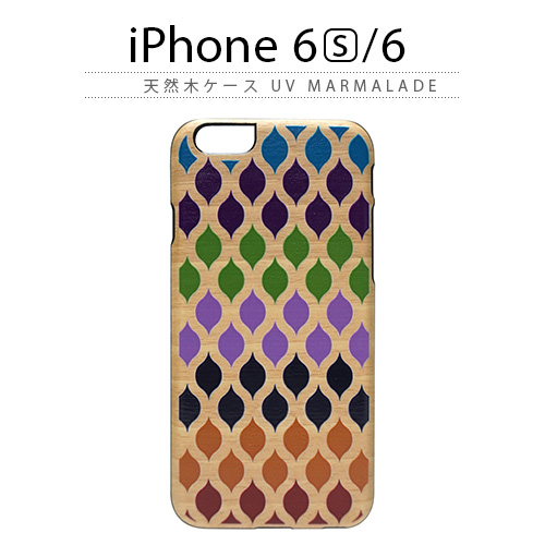 iPhone6s ケース 天然木 Man&Wood UV Marmalade(マンアンドウッド マーマレード)アイフォン iPhone6