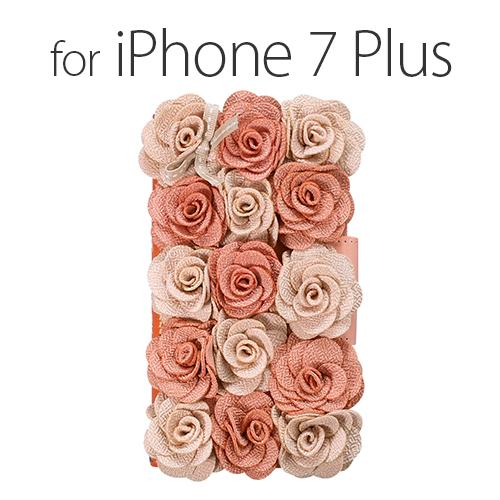 iPhone 8 Plus / 7 Plus ケース 手帳型 Mr.H Bella Rosette Diary ピンク (ミスターエイチ ベラロゼッタ ダイアリー)アイフォン カバー 花柄 フラワー