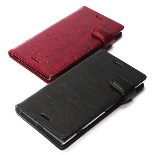 Xperia XZ1 ケース 手帳型 ZENUS Lettering Diary (ゼヌス レタリングダイアリー)エクスペリア エックスゼットワン カバー SO-01K SOV36 701SO
