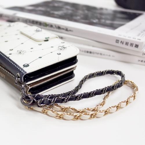 ストラップ abbi Leather Chain Hand Strap(アビィ レザーチェーン ハンドストラップ)15cm モバイルストラップ 落下防止