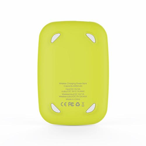 ワイヤレス充電器 モバイルバッテリー ワイヤレス HACRAY Cable-Free Mobile Battery(ハクライケーブルフリー)4000mAh 置くだけ充電 Qi対応 スマートフォン qi 充電器 かわいい テレワーク 在宅勤務