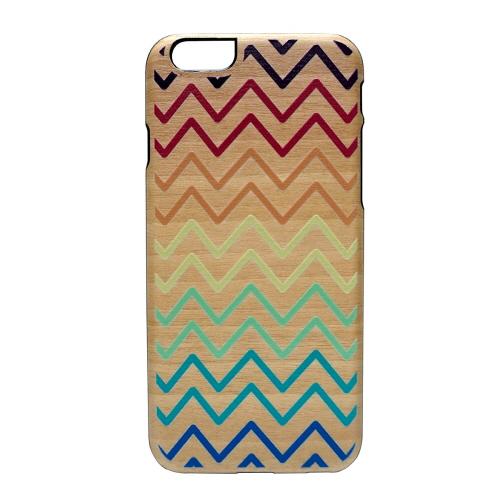 iPhone6s ケース 天然木 Man&Wood UV Rainbow Wave(マンアンドウッド レインボーウェーブ)アイフォン iPhone6