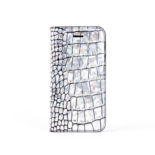 iPhone SE ケース 手帳型 GAZE Hologram Croco Diary(ゲイズ ホログラムクロコダイアリー)アイフォン se/5s/5用 iPhone SE/5s/5