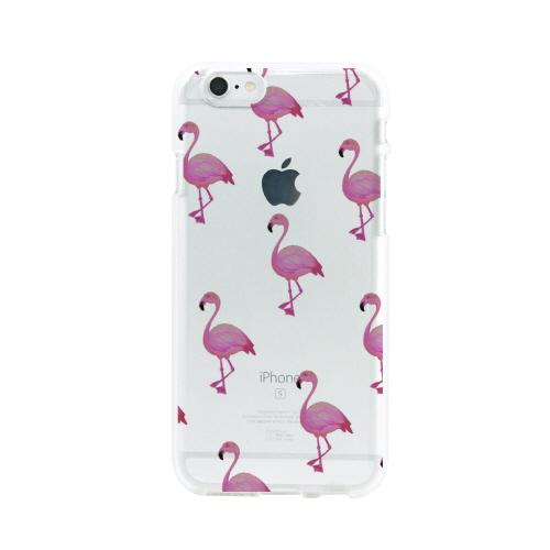 iPhone6s/6 ケース Dparks ソフトクリアケース フラミンゴ(ディーパークス)アイフォン